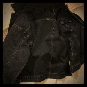 Black oversized jean jacket